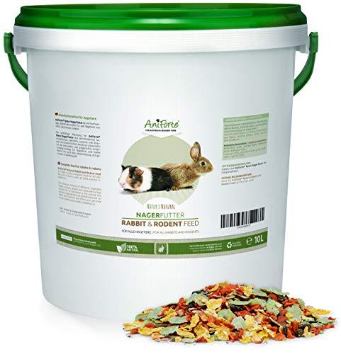 AniForte Natur Nagerfutter 10 Liter für Nager, Hamster, Meerschweinchen, Kaninchen - Artgerechtes Alleinfuttermittel, Nagetier Futter mit Karotten, Erbsen, Weizen, Mais, Luzerne, Löwenzahn