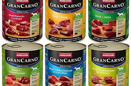 animonda grancarno hundefutter nassfutter fuer erwachsene hunde verschiedene sorten mix 2 6 x 800 g 500x330 - animonda GranCarno Hundefutter, Nassfutter für erwachsene Hunde, verschiedene Sorten, Mix 2, 6 x 800 g