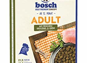 bosch HPC Adult mit frischem Geflügel & Hirse | Hundetrockenfutter für ausgewachsene Hunde aller Rassen, 1 x 15 kg