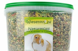 grünhopper 4,5kg Kaninchenfutter Wiesenknopf Strukturfutter mit Kräuter
