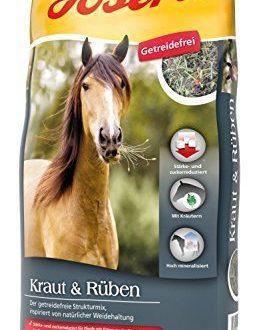 JOSERA Kraut & Rüben (1 x 15 kg) | Premium Pferdefutter ohne Getreide mit natürlichen Kräutern | zucker- und stärkereduziert | Strukturmix für Pferde | 1er Pack